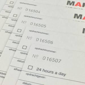 nummeren loterijen opvolnummeren oplopend aflopend uniekgend